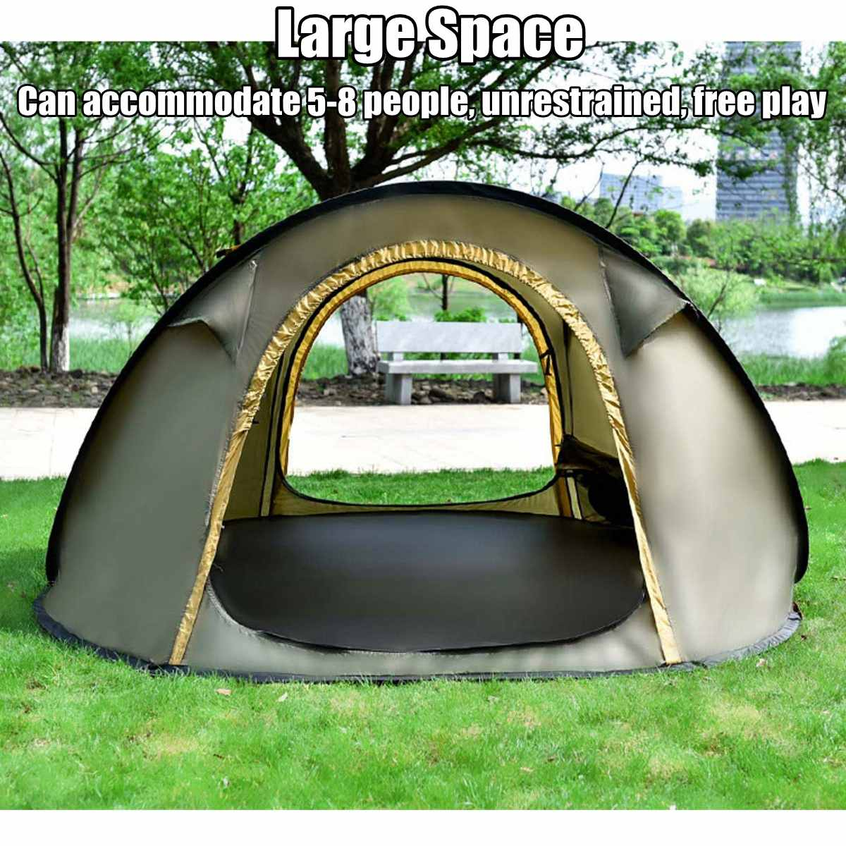 Goat 5-8 People Automatic amily Hiking Pop Up Quick Shelter Outdoor Traveling Camping Tent