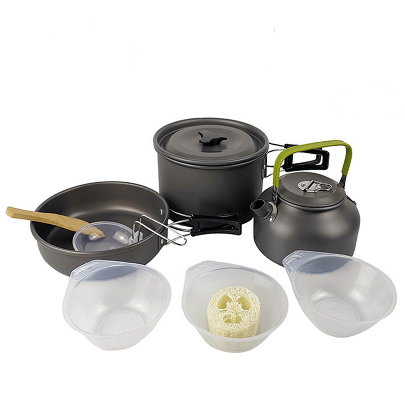 Goat Camping Outdoor Portable Teapot Cookware Lightweight Outdoor Cooking Set for Hiking Backpacking Cooking Picnic