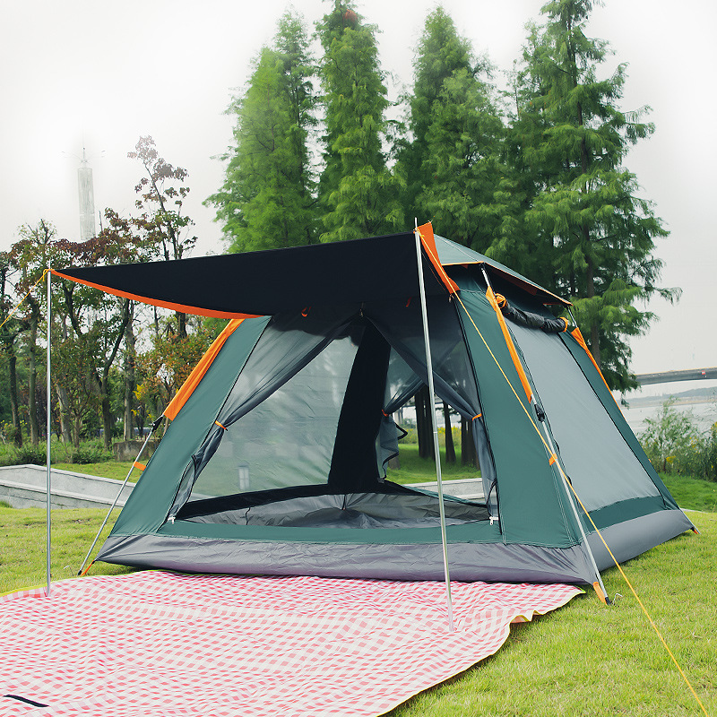Goat Large 3 To 8 Person Automatic Family Camping Tents Easy Pop Up Fast Breathable Hiking Tents