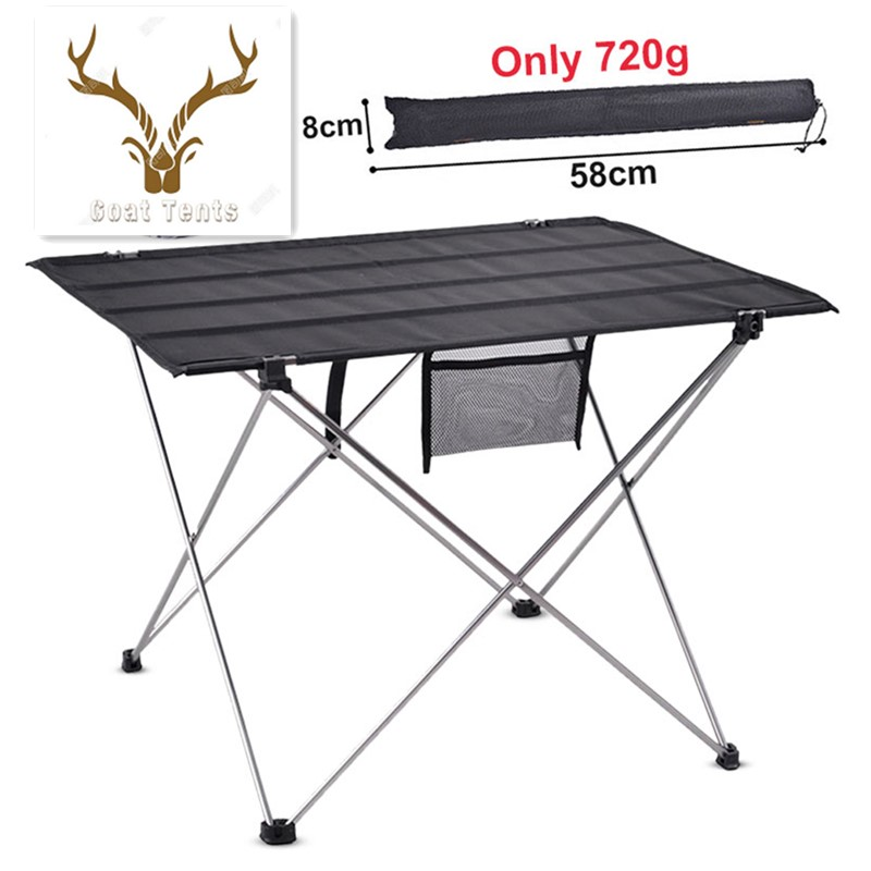 Goat Lightweight Portable Camping Table Foldable Aluminium Alloy Outdoor Table Picnic Hiking Climbing Fishing BBQ Desk