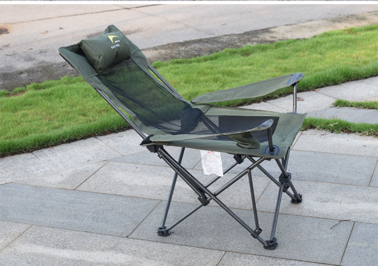Goat Outdoor Backrest Lunch Break Folding Dual-Purpose Mountaineering Camping Beach Fishing Chair Compact Camp Footrest Stool