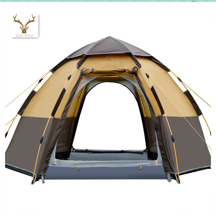 Goat Outdoor Big Space Hexagon 3 to 8 People Automatic Rainproof Camping Family Leisure Tent