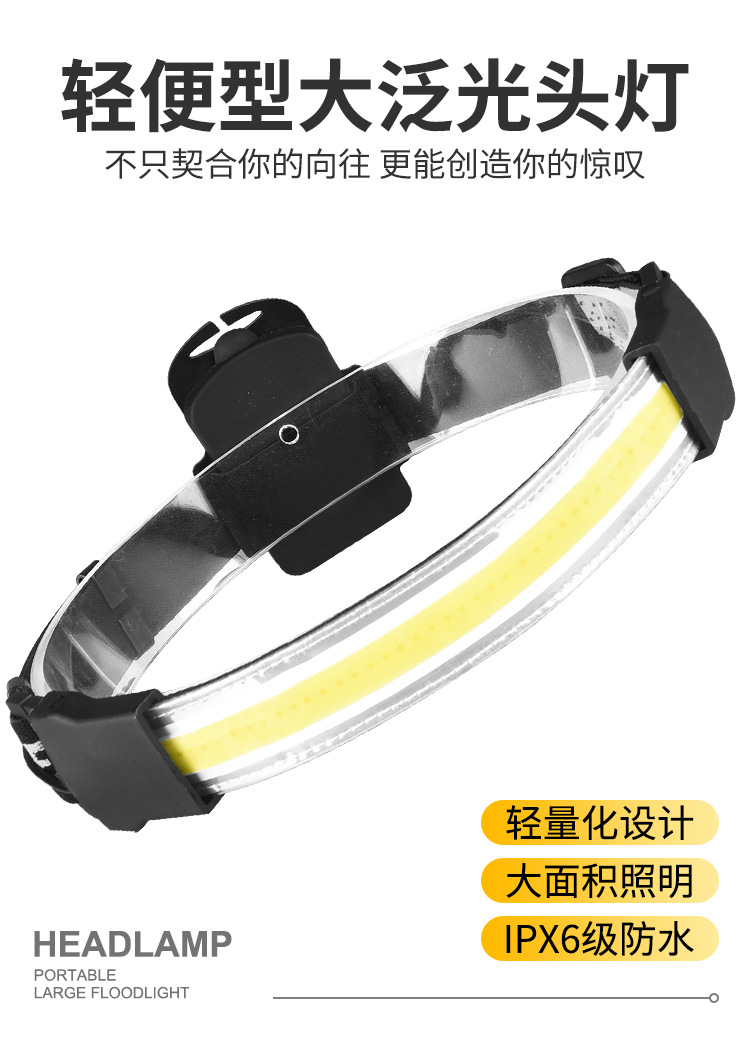 Goat Sensor Headlamp Super Bright Headlight Waterproof Camping Fishing Bicycle Headlamp With Battery Flashlight