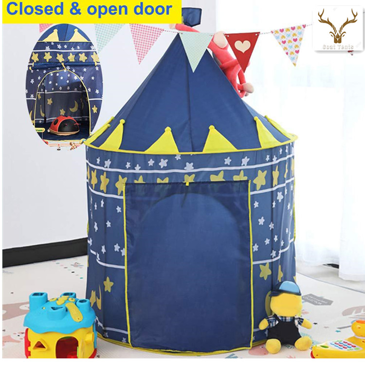 Goat Toy Castle Playhouse Portable Foldable Tipi Prince Folding Castle Tulle Children Kids Game Tent