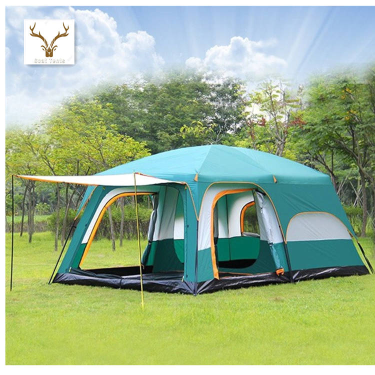 Goat Ultralarge Large 8 To 10 Person Big Space Camping Outdoor Two bedrooms And One Hall Family Double Layer Tent