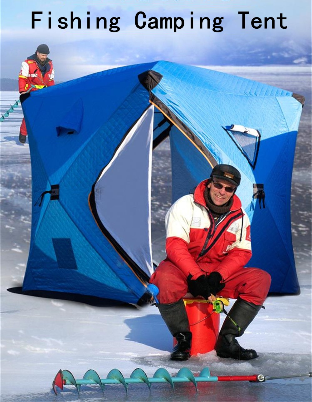 Goat Winter Ice Fishing Snowproof & Windproof Warm House Tents Thickened Portable Automatic Camping Shelter