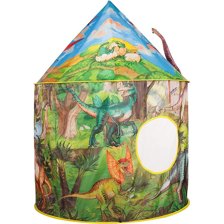 Pop Up Play Dinosaur Tent for Kids Realistic Design Kids Tent Indoor Games House Toys House For Children
